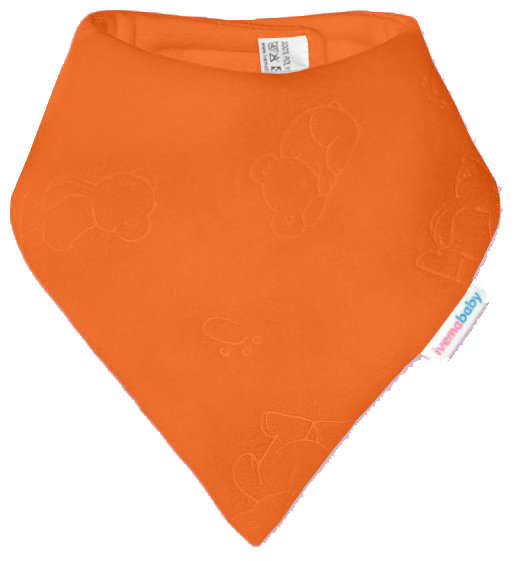 IVEMA BABY - Fleesová šatka na krk - oranžová