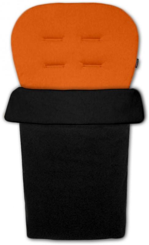 IVEMA BABY - Vložka do kočíka a nánožník 2 v 1 - oranžová
