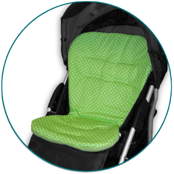 IVEMA BABY - Vložka do kočíka Maxi Color - limetková s bodkami / limetka