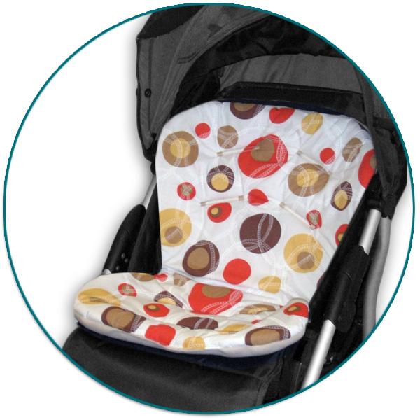 IVEMA BABY - Vložka do kočíka Uni Color - béžové bubliny / béžová