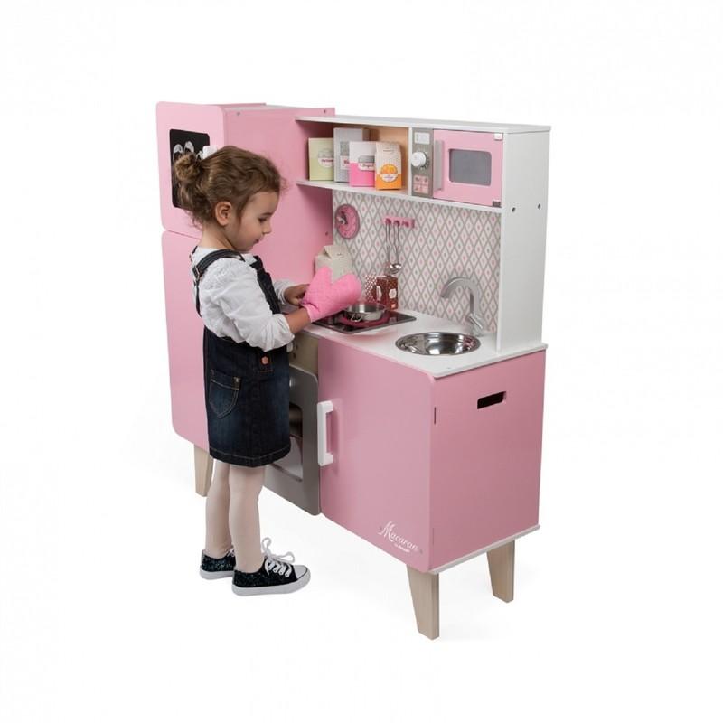 JANOD - J06571 Maxi drevená kuchynka Macaron elektronická