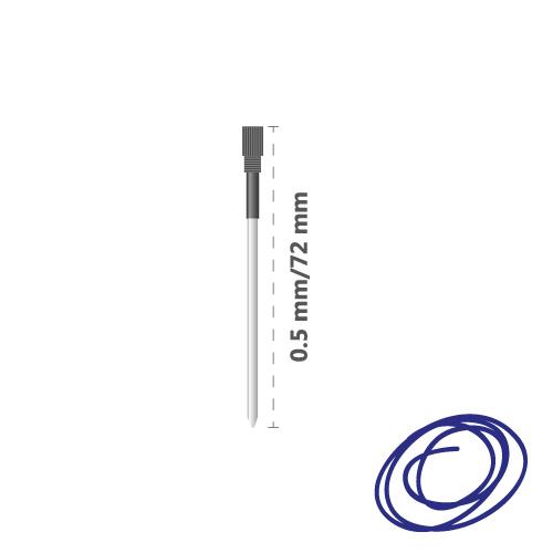 JUNIOR - Náplň kovová Crystal Touch 0,5 mm - modrá