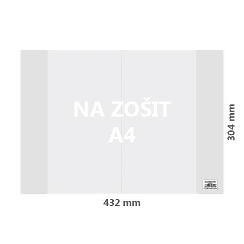 JUNIOR - Obal na zošit A4 PVC 432x304 mm, hrubý/transparentný, 100 ks