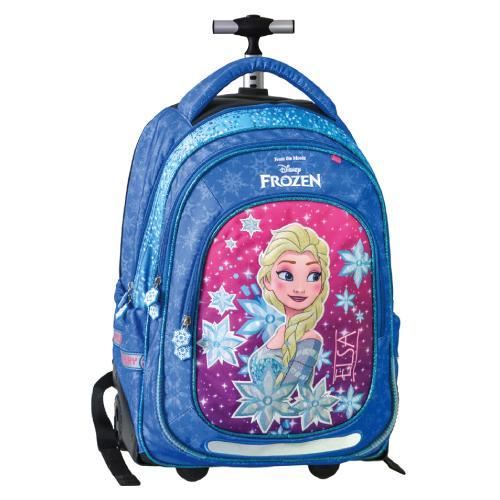 JUNIOR-ST - Školský batoh na kolieskach Trolley Frozen, Blue kingdom