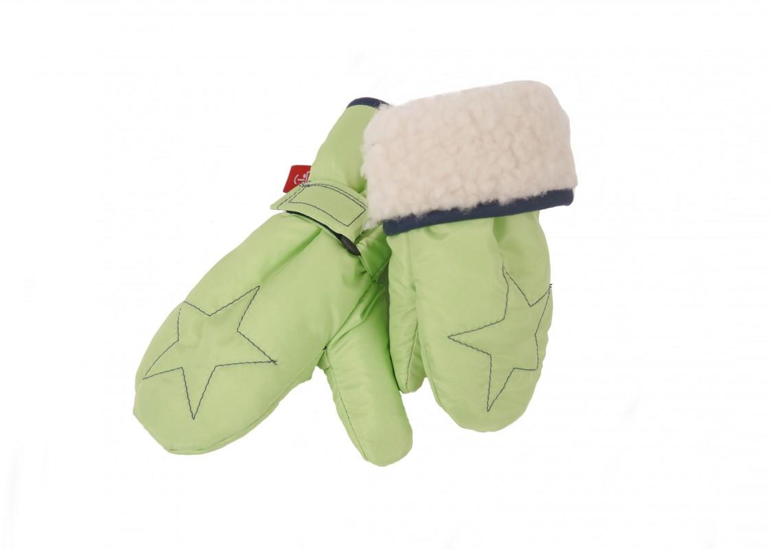 KAISER - Detské rukavice Star - veľ. 1 (12-24 mesiacov) - Lime