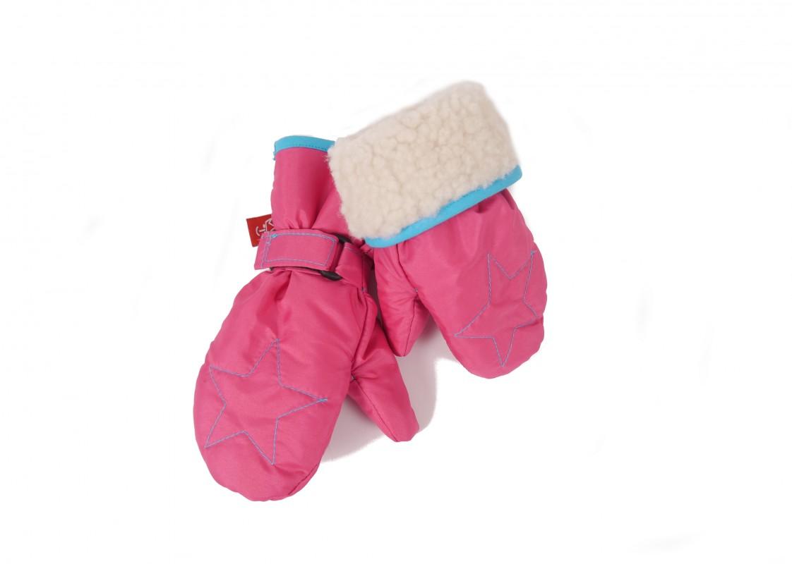 KAISER - Detské rukavice Star - veľ. 1 (12-24 mesiacov) - Pink