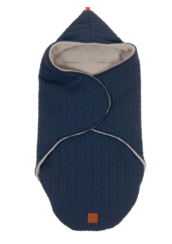 "KAISER - Zavinovacia deka ""Wrappy Knitty"" super soft - Marine"