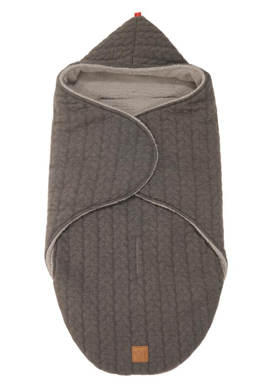 """KAISER - Zavinovacia deka """"Wrappy Knitty"""" super soft - Anthrazit"""