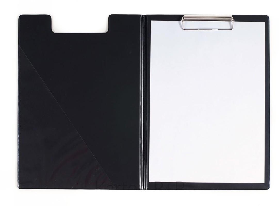 KARTON PP - Dvojdoska s klipom A4, lesklá čierna