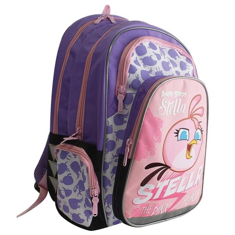 KARTON PP - Školská anatomická taška Ergo Uni Angry Birds Stella