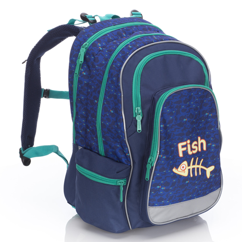 KARTON PP - Školská anatomická taška Ergo Uni Fish