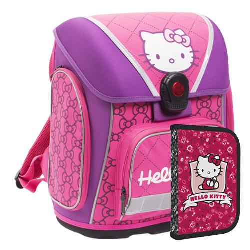 KARTON PP - Školská anatomická taška Premium Hello Kitty Kids + darček