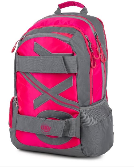 KARTON PP - Študentský batoh OXY Šport NEON LINE Pink 46cm
