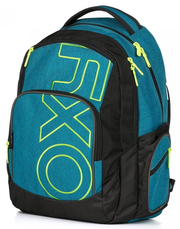 KARTON PP - Študentský batoh OXY Style modro-zelený