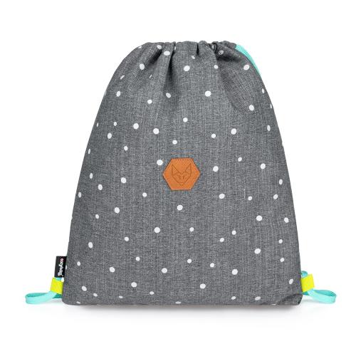 KARTON PP - Vak na chrbát OXY SCOOLER Grey dots