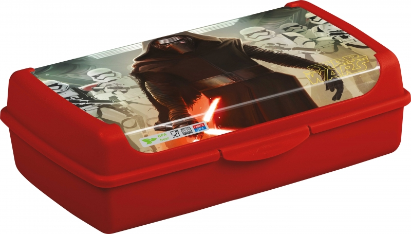 KEEEPER - Box na desiatu Star Wars 3,7 l - červený