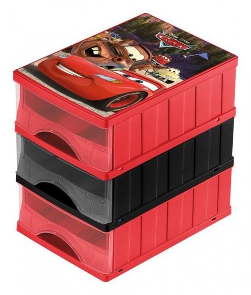 KEEEPER - Boxy na hračky - zásuvky Cars