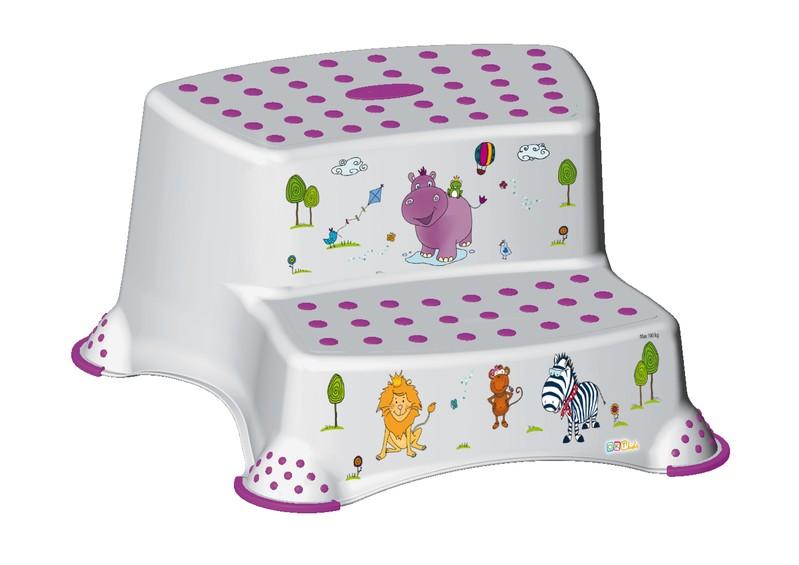 KEEEPER - Dvojstupienok k WC / umývadlu Hippo, Biela