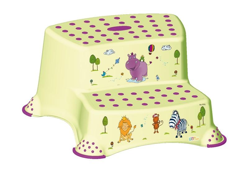 KEEEPER - Dvojstupienok k WC / umývadlu Hippo, Zelená