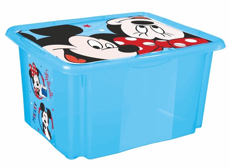 """KEEEPER - Úložný box s vekom """"Mickey"""", Modrá"""