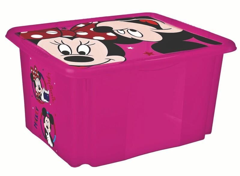 """KEEEPER - Úložný box s vekom """"Minnie"""", Ružová"""