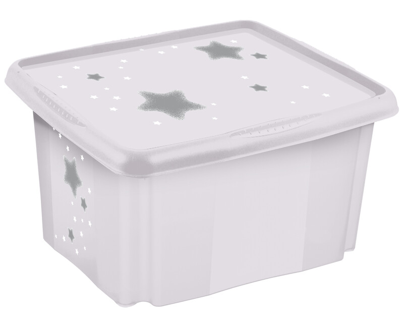 "KEEEPER - Úložný box s vekom ""Stars"", Biela"