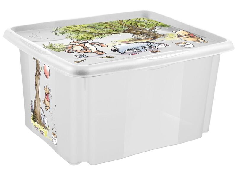 """KEEEPER - Úložný box s vekom """"Winnie"""", Transparentné"""