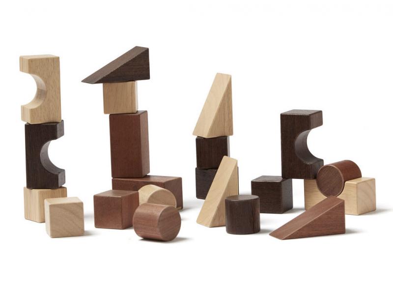 KIDS CONCEPT - Kocky drevené 21 ks Neo