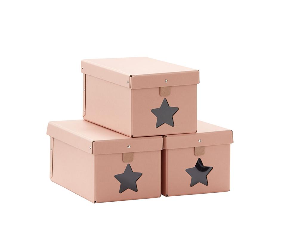 KIDS CONCEPT - Krabice na topánky 3ks Pink