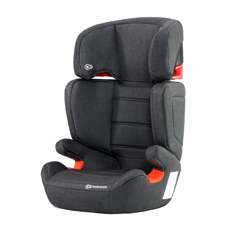 KINDERKRAFT - Autosedačka Junior Fix Isofix Black 15-36kg 2019