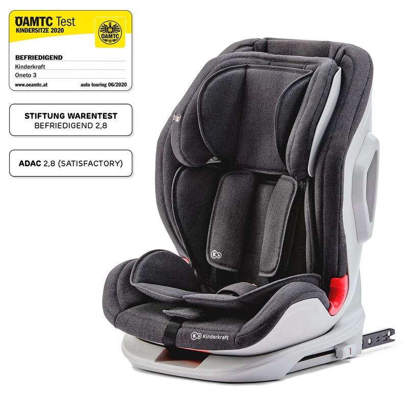 KINDERKRAFT - Autosedačka Oneto3 Isofix Black 9-36 kg