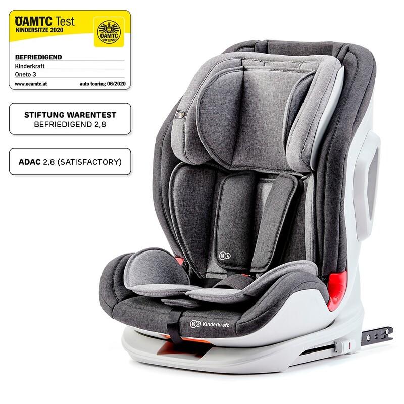 KINDERKRAFT - Autosedačka Oneto3 Isofix Black/Gray 9-36 kg