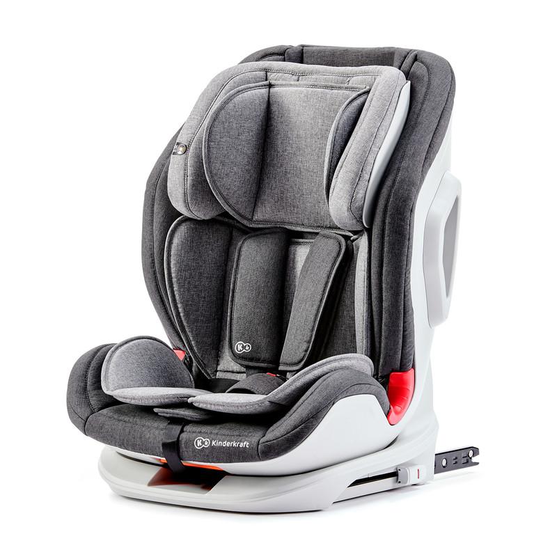 KINDERKRAFT - Autosedačka ONETO3 Isofix Black/Gray 9-36kg 2019