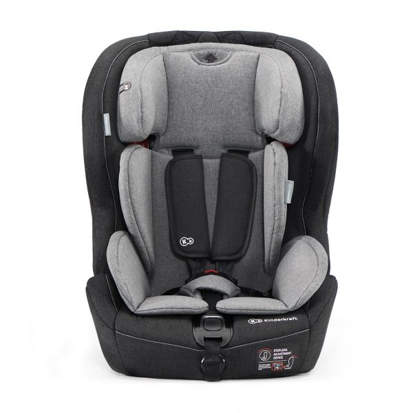 KINDERKRAFT - Autosedačka SAFETY-FIX Isofix Black/Gray 9-36kg 2019