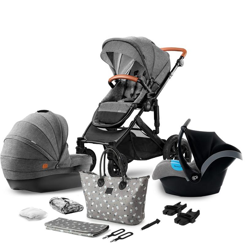 KINDERKRAFT - Kočík kombinovaný Prime 3v1 grey 2020