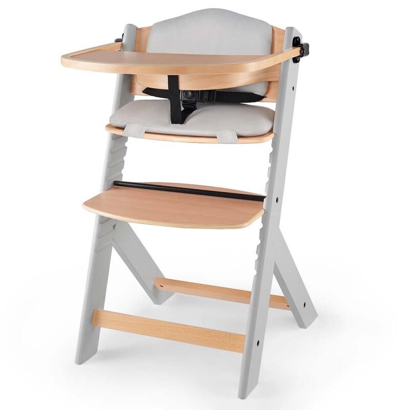 KINDERKRAFT - Stolička jedálenská Enock s vložkou Grey wooden