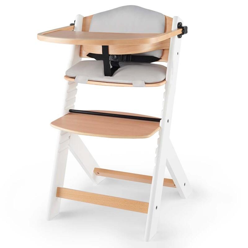KINDERKRAFT - Stolička jedálenská Enock s vložkou White wooden