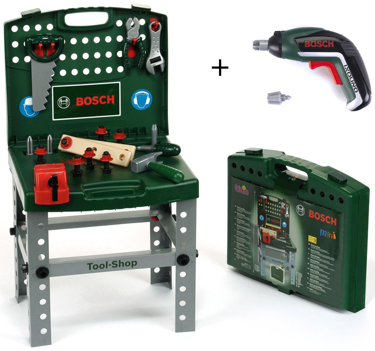 KLEIN - Pracovný Stôl Bosch V Kufríku So Šraubovákom