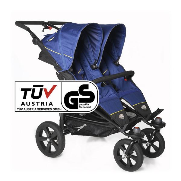 TFK - Kočík pre dvojčatá Twin Trail - Twilight Blue T-TWT-333