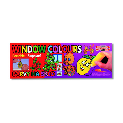 KOH-I-NOOR - Farba na sklo sada 10 ks, 9x22 ml + 1x40 ml