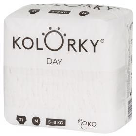 KOLORKY - DAY NATURE - M (5-8 kg) - 21 ks - jednorazové eko plienky