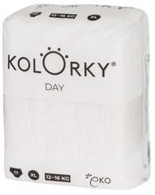KOLORKY - DAY NATURE - XL (12-16 kg) - 17 ks - jednorazové eko plienky