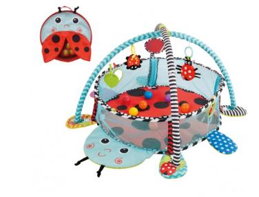 KONIG KIDS - Vzdelávacia hracia deka s 30 loptičkami Konig - Lienka