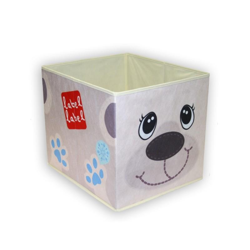 LABEL-LABEL - Box na hračky, ľadový macko