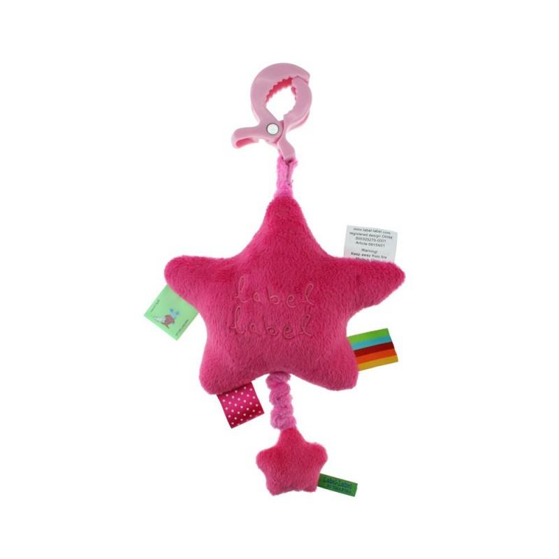 LABEL-LABEL - Hudobná hviezdička na zavesenie, ružová