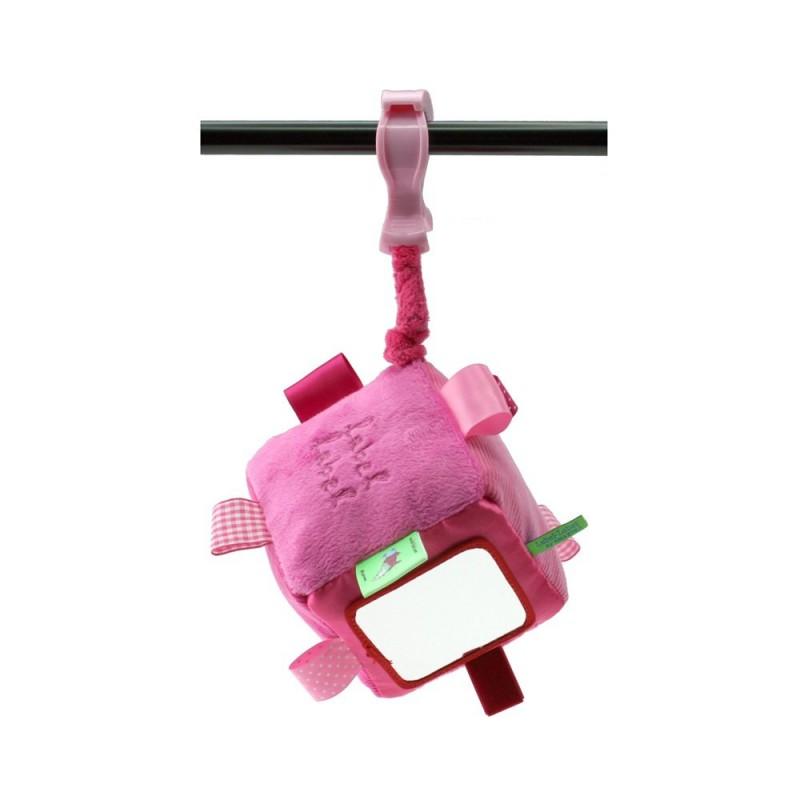 LABEL-LABEL - Kocka so štipcom, ružová