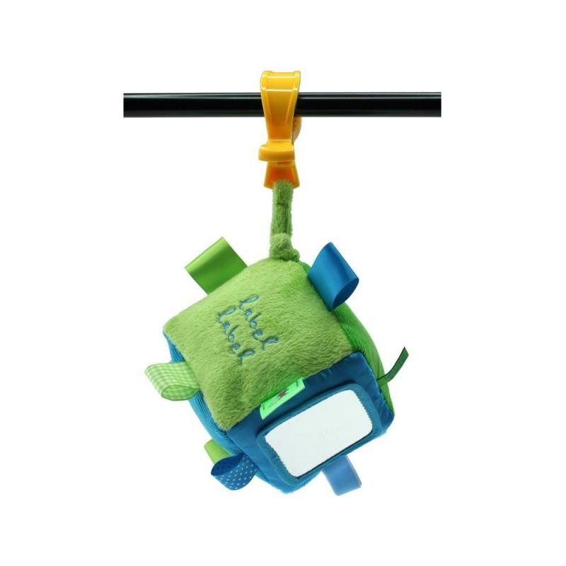 LABEL-LABEL - Kocka so štipcom, zelená