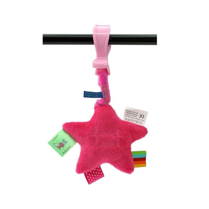 LABEL-LABEL - Plyšová hviezda so štipcom, ružová