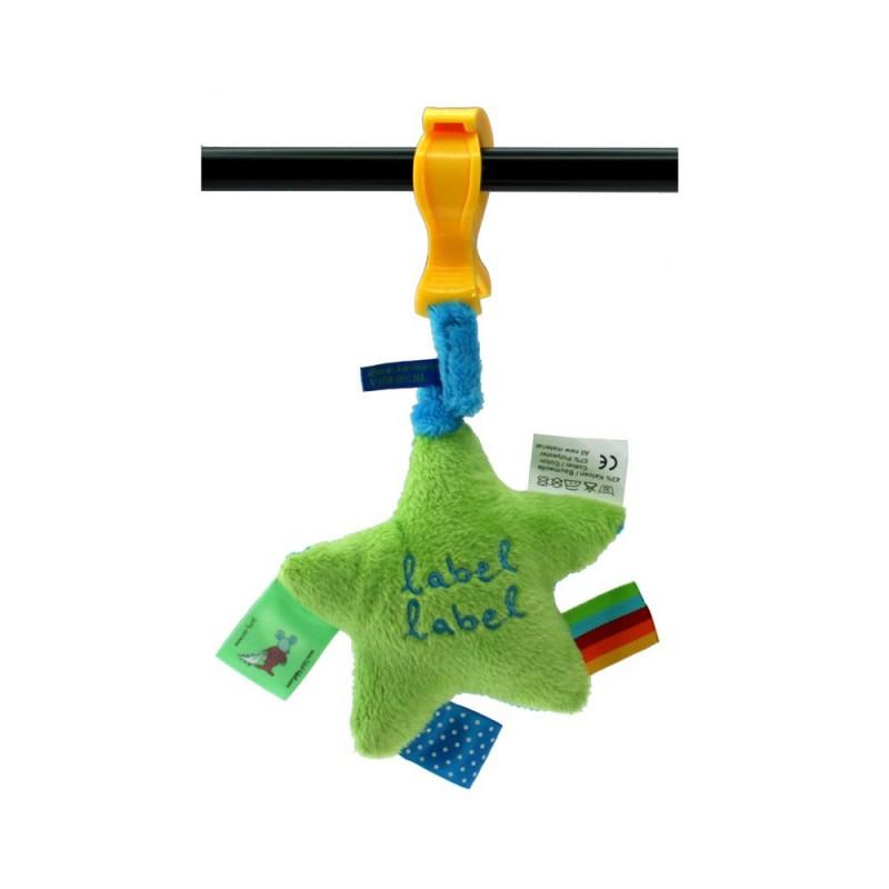LABEL-LABEL - Plyšová hviezda so štipcom, zelená
