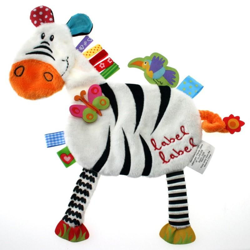 LABEL-LABEL - Zebra, čierno biela